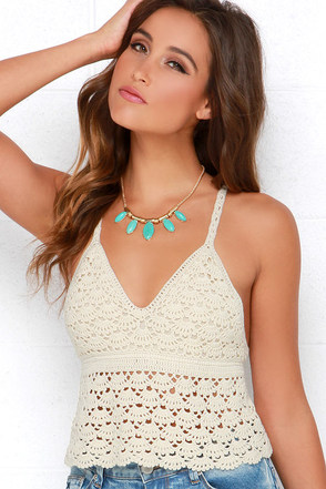 White Crow Pure Blossom Cream Crochet Crop Top at Lulus.com!