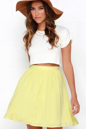 Posy on Over Yellow Skirt at Lulus.com!
