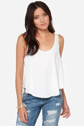 RVCA Label Drape Ivory Tank Top