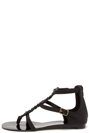 Braid and Better Black Braided Gladiator Sandals at Lulus.com!