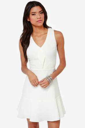 Aryn K Sugar High Ivory Dress