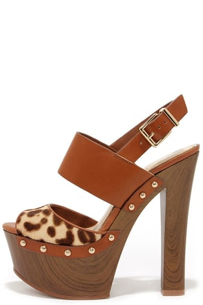 Jessica Simpson Dallis2 Leopard Pony Fur Platform Sandals at Lulus.com!