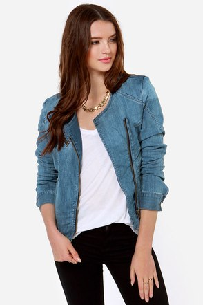 Ava Medium Wash Denim Jacket