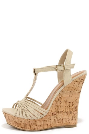 Weave-ning Time Taupe Woven Wedge Sandals at Lulus.com!