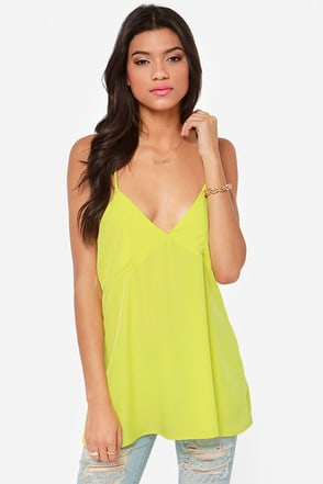 Make It Two Chartreuse Tank Top