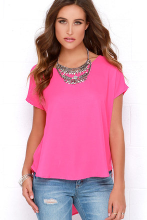 Wowee Zowee Hot Pink Top at Lulus.com!