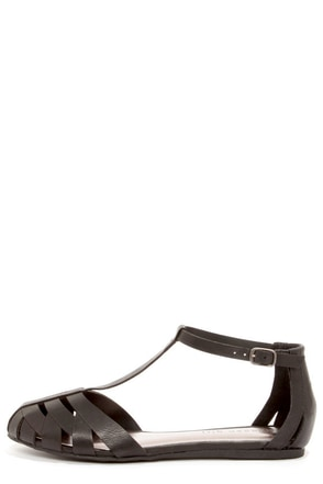Madden Girl Stunt Black Sandals