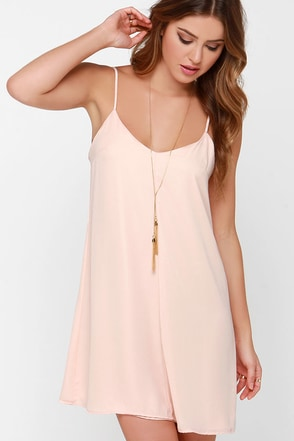 Goody Gumdrops Peach Slip Dress at Lulus.com!