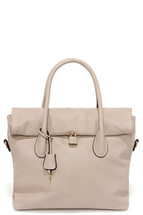 Rock and Roller Taupe Handbag at Lulus.com!