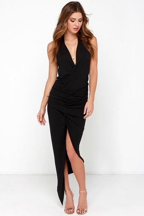 Keep it on the High-Low Black Wrap Dress at Lulus.com!