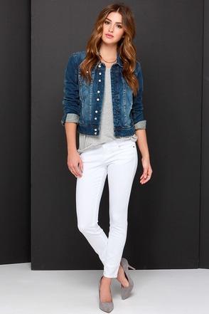 Venice Skatepark White Ankle Skinny Jeans at Lulus.com!