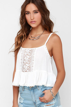 Fairy Trail Ivory Lace Crop Top at Lulus.com!
