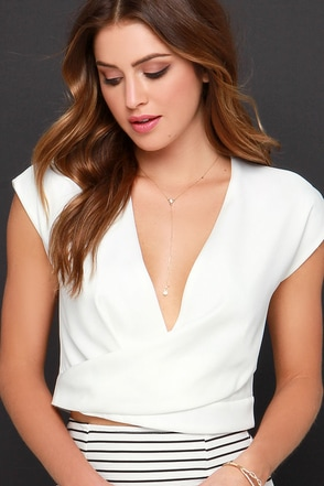 Fresh Cut Ivory Crop Top at Lulus.com!