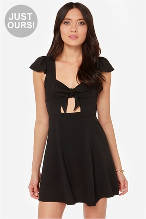 LULUS Exclusive Tie Spell Black Dress