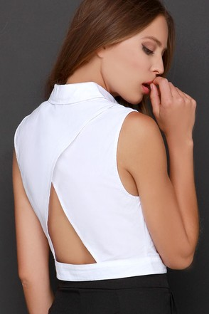 Top That Ivory Button-Up Crop Top at Lulus.com!