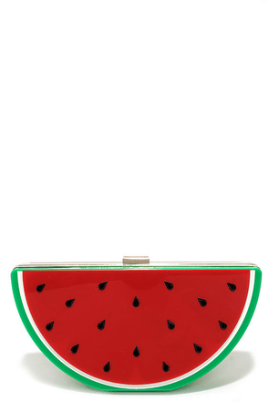 Sweetest Dreams Red Watermelon Clutch at Lulus.com!