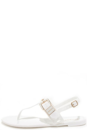 Jells of Your White Jelly Thong Sandals at Lulus.com!