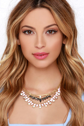 Stunning Out Pink Rhinestone Statement Necklace at Lulus.com!