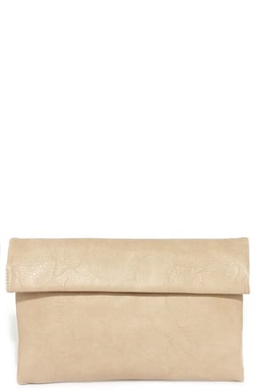 Roller Coast to Coast Beige Clutch at Lulus.com!