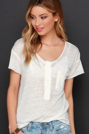 Burnout and About Ivory Burnout Tee at Lulus.com!