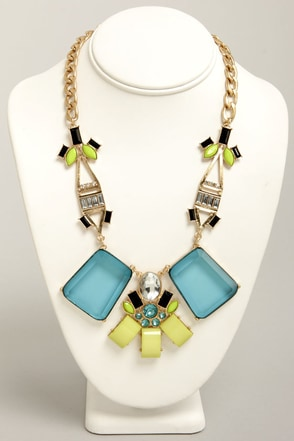 Ice Ice Baby Blue Statement Necklace