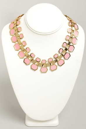 Collar Me Crazy Pink Necklace at Lulus.com!