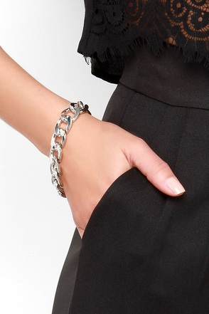 Wishful Linking Silver Chain Bracelet at Lulus.com!