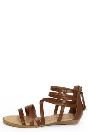 Blowfish Belona Whiskey Brown Gladiator Sandals