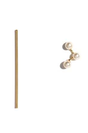 Pretty Pair Gold and Pearl Mismatched Earrings at Lulus.com!
