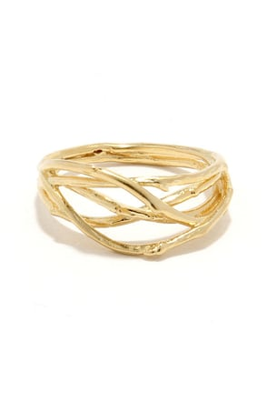 Stick With Me Gold Ring at Lulus.com!