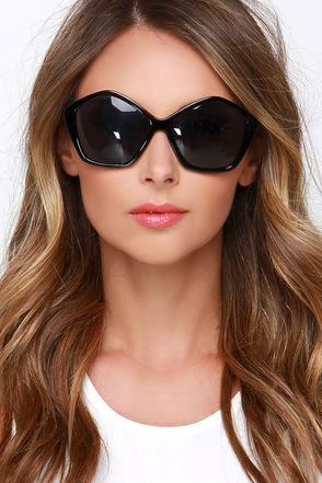 Ray of Light Black Sunglasses at Lulus.com!