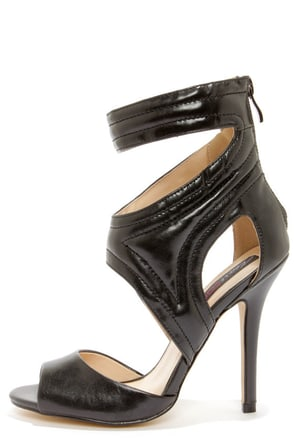 Heart Soul Dezi Black High Heels