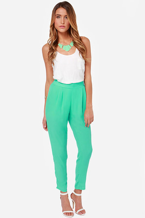 Give It Your All Mint Green Pants