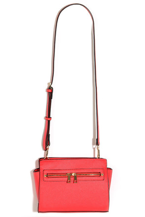 Get Bright Coral Red Purse at Lulus.com!