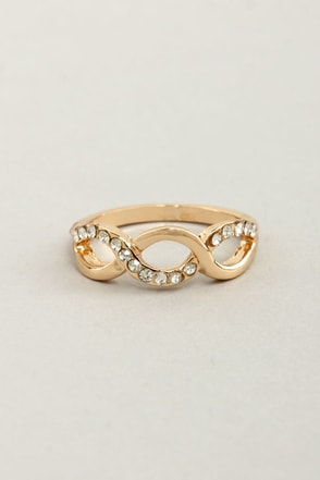 Skip to My Loop Rhinestone Infinity Ring
