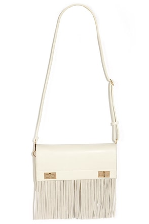 The Very Fest Cream Fringe Purse at Lulus.com!