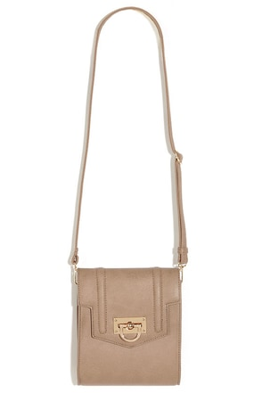 Latch-Maker Taupe Purse at Lulus.com!
