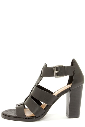 Report Rebecka Black High Heel Sandals at Lulus.com!