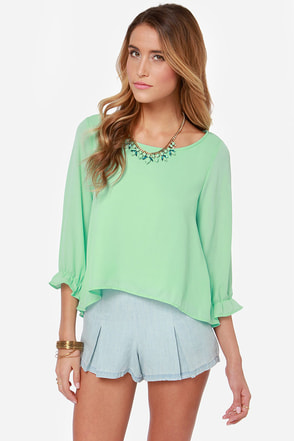Best Day Ever Mint Green Top