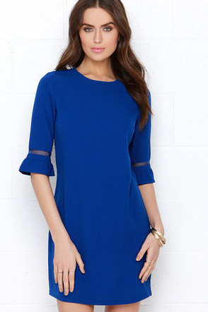 Sugarhill Boutique Greta Royal Blue Shift Dress at Lulus.com!