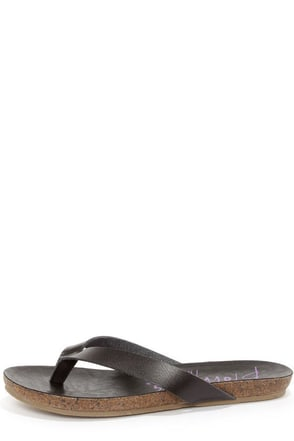 Blowfish Gisele Whiskey Brown Thong Sandals