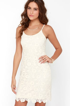 All My Love Cream Lace Dress at Lulus.com!
