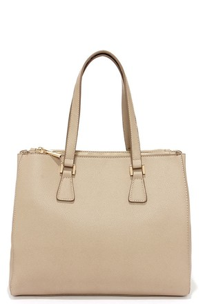 She's the Boss Taupe Handbag at Lulus.com!