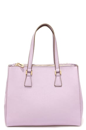 She's the Boss Lavender Handbag at Lulus.com!