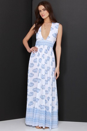 Faithfull the Brand Night Orchard Ivory Print Maxi Dress at Lulus.com!