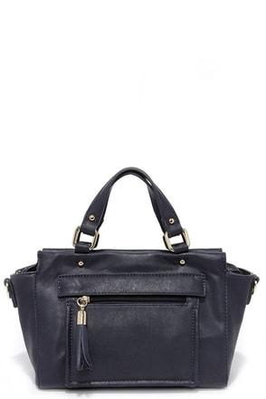 It's a Deal Navy Blue Handbag at Lulus.com!