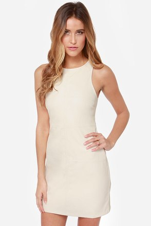 Mink Pink All I Need Cream Dress at Lulus.com!