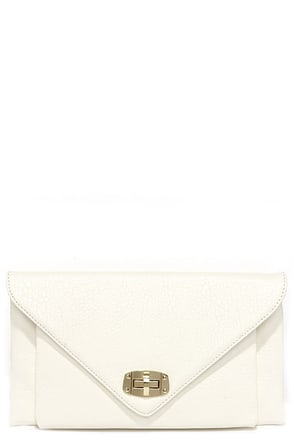 Out Tonight Ivory Clutch at Lulus.com!