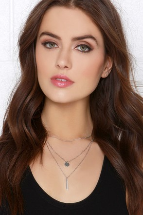 Perfect Trio Silver Necklace at Lulus.com!