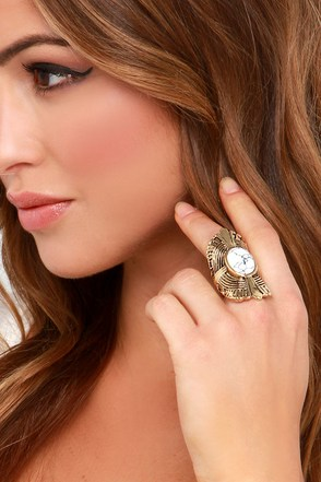 Witchy Woman Silver and Turquoise Ring at Lulus.com!
